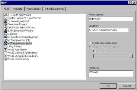 Multiple Document Interface (MDI) Applications